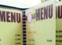Xưởng in menu nhà hàng tại Thanh Xuân