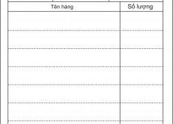 Xưởng in order giá rẻ tại Hà Nội